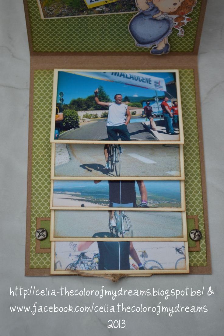 "Waterval van foto's kaartje ""Frank""."