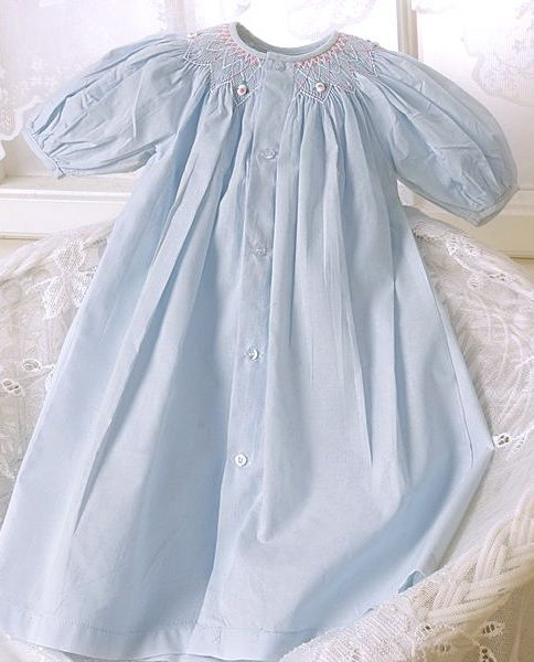 hand smocked baby day dress
