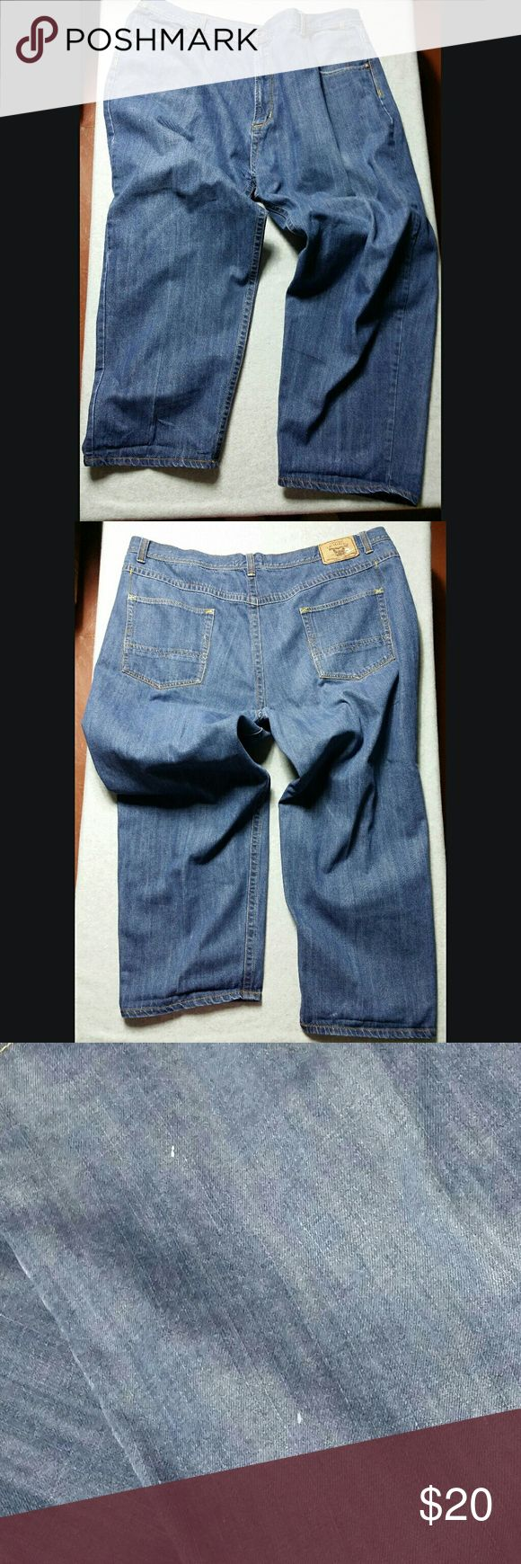 Royal Blue Men's Blue Jeans Size 52X32 **Please note--there's some minor paint dots on front right upper leg and on the tag on back waistband. See pics.** Royal Blue Jeans Straight