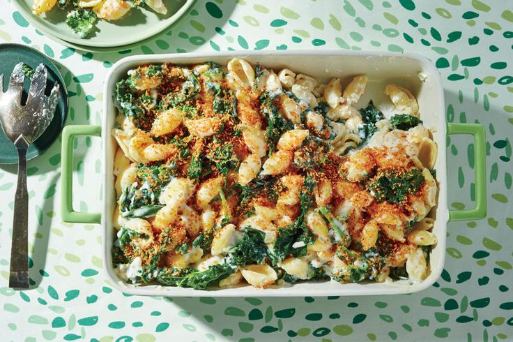 Creamy Kale and Pasta Bake - 30 Minute Recipes—for When You're Already Starving - Southernliving. Ready in 30 minutes Recipe: Creamy Kale and Pasta Bake  Use pre-shredded Monterey Jack cheese and a package of chopped fresh kale to cut down on prep time.