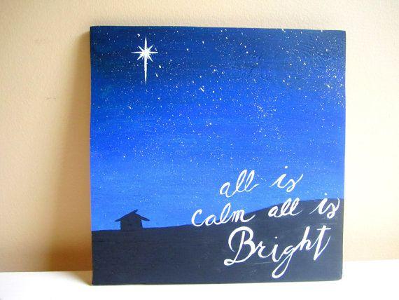 Il sagit dune scène de la Nativité sur une pièce de contreplaqué de régénéré de peintes à la main ! Cette peinture montre comment le petit moment où Jésus est né a changé pour toujours le cours de lhistoire. Il dispose également dun snippit de la chanson « Silent Night ». Naissance du Christ est la raison que nous célébrons Noël ! Il ferait un merveilleux ajout à votre décor de Noël dans votre maison soit suspendu vers le haut ou sur le manteau. Vous souhaitez ajouter un signe de la fête…