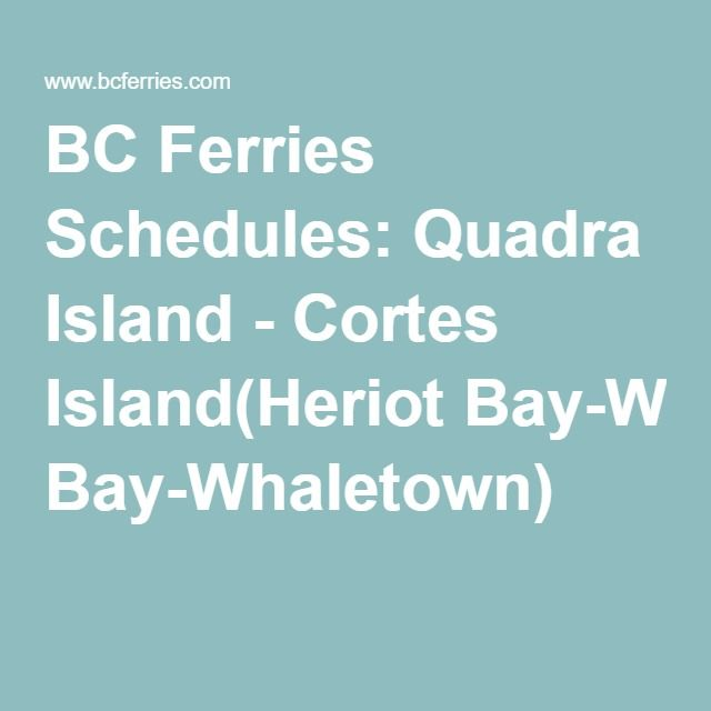 BC Ferries Schedules