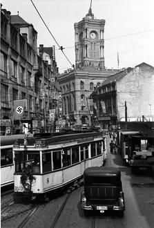 Berlin: Spandauer Straße vom Molkenmarkt (1938)