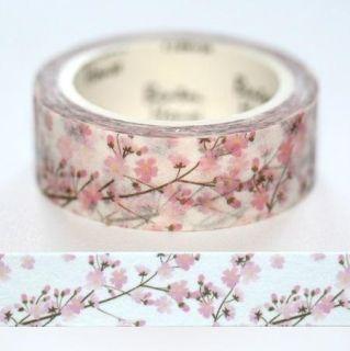 Washi papierová páska - čerešňový kvet 7 m