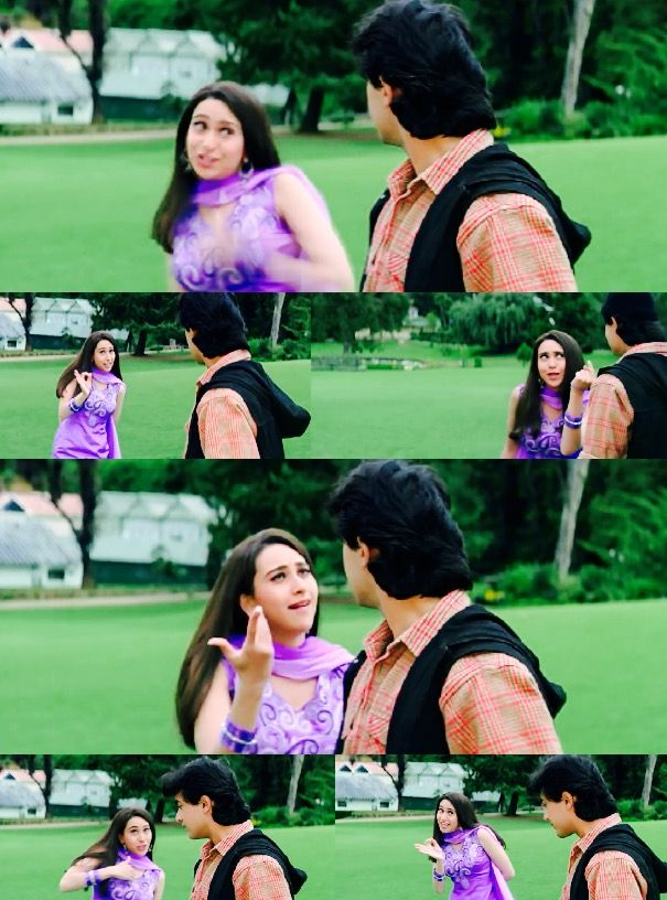 Karisma Kapoor as Aarti in Raja Hindustani