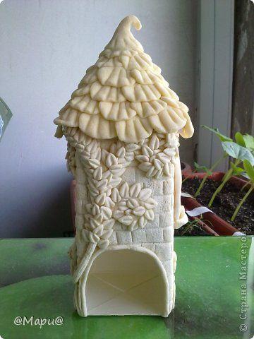 Поделка изделие Лепка Чайный домик Тесто соленое фото 11