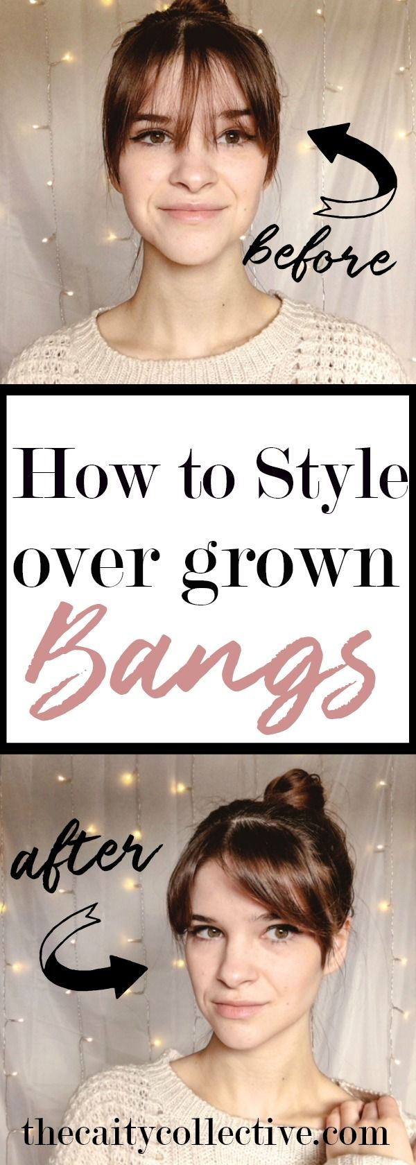 How to style over grown bangs | middle part bangs| overgrown bangs hairstyles  | styling over grown bangs