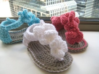 Adorable crochet sandals for baby girl
