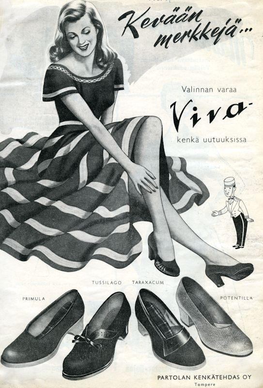 Viva-kengät - 1950-luku (Partola/Palmroth)
