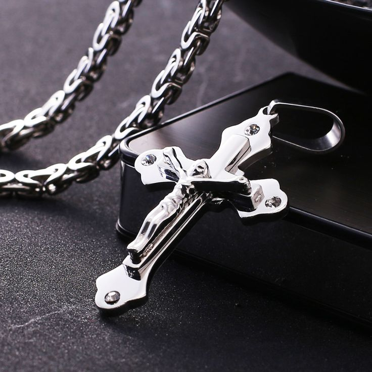 Stainless Steel Titanium Jesus Necklace