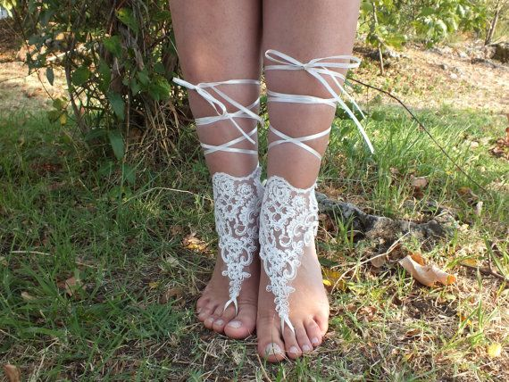 bridal anklet, Beach wedding barefoot sandals, bangle, wedding anklet, anklet, bridal, wedding. french lace. free ship on Etsy, $25.00