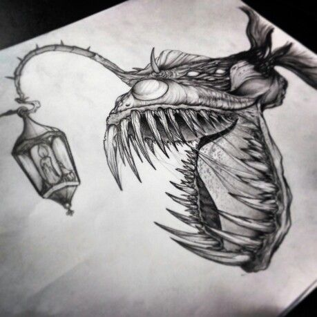 #Anglerfish draw by #alfredonajar #inksanity