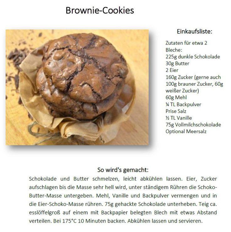 Schoko Brownie Cookies - Saftig - Das Knusperstübchen