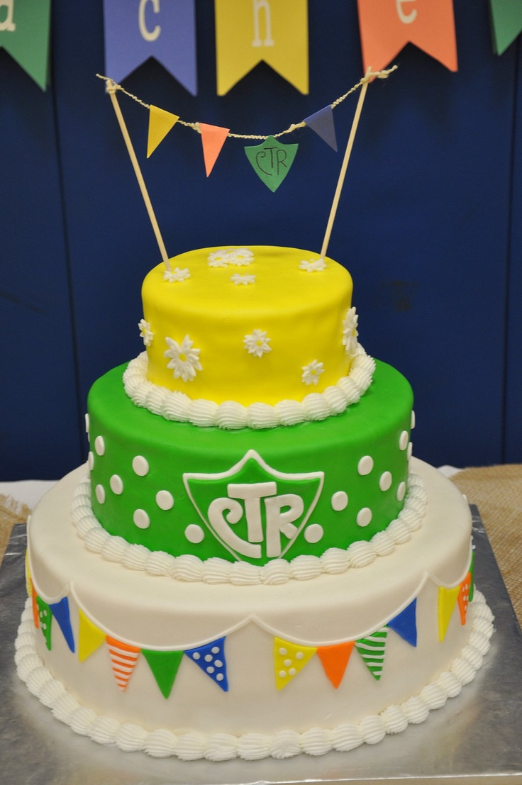 CTR cake--Love this for a baptism!