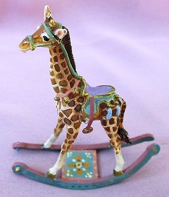 MINIATURE DOLLHOUSE ARTISAN AMANDA SKINNER WHIMSICAL ROCKING GIRAFFE 1:12 SCALE