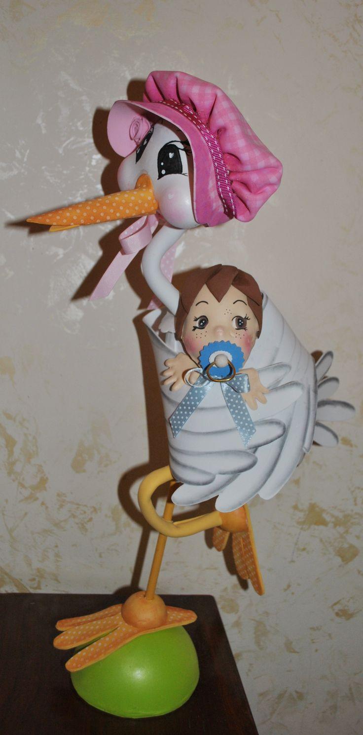 Cicogna porta bebè <3