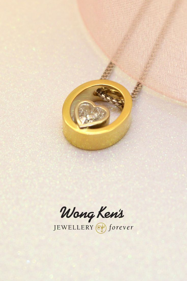 Wong Ken's signature line of beautiful necklaces. Perfect for Valentine's Day!  www.wongkens.com  #valentine #wongkensjewellery #jewelleryforever #necklace #gold #diamond #love