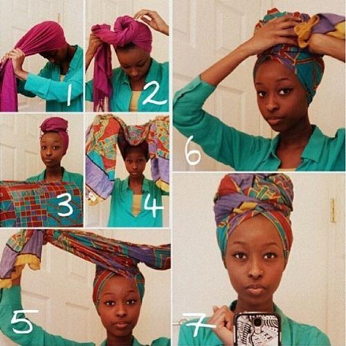 natural hair wrap tutorial