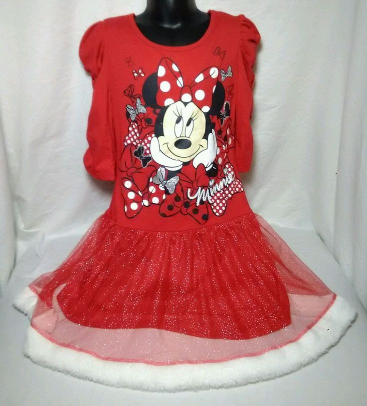 Disney minnie mouse girls red dress with white puffy lining sz 7/8 | Clothing, Shoes & Accessories, Kids' Clothing, Shoes & Accs, Girls' Clothing (Sizes 4 & Up) | eBay!