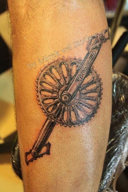 BMX chainset #tattoo