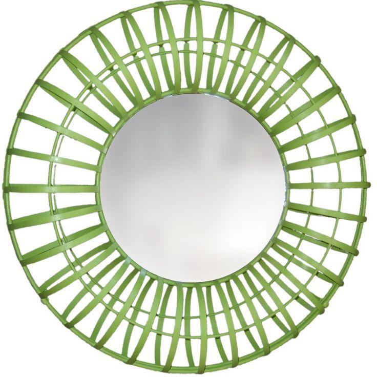Green Mirror | Round Lime Green Mirror