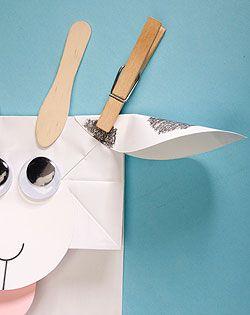 Paper Baaa-g Goat Puppet - paper bag craft tutorial farm activity