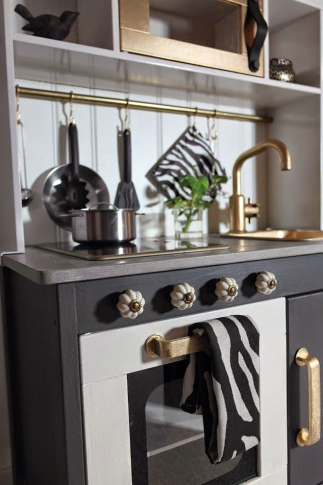 ikea hack kids kitchen Because It's Awesome