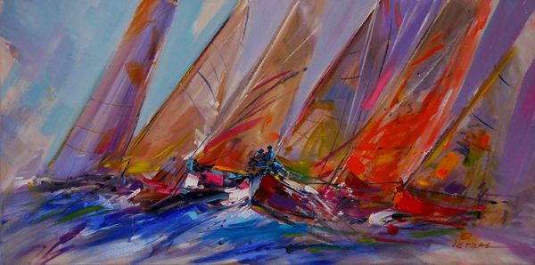 Greek #sea Retzas, painter. #Oil #painting www.eshop-art.gr