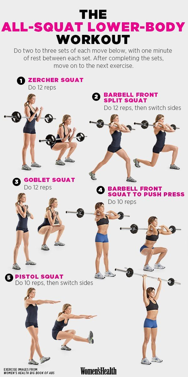 An All-Squat Workout for a Lower-Body That Just Won't Quit | Women's Health Magazine