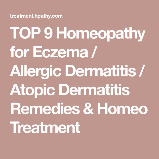 TOP 9 Homeopathy for Eczema / Allergic Dermatitis / Atopic Dermatitis Remedies & Homeo Treatment