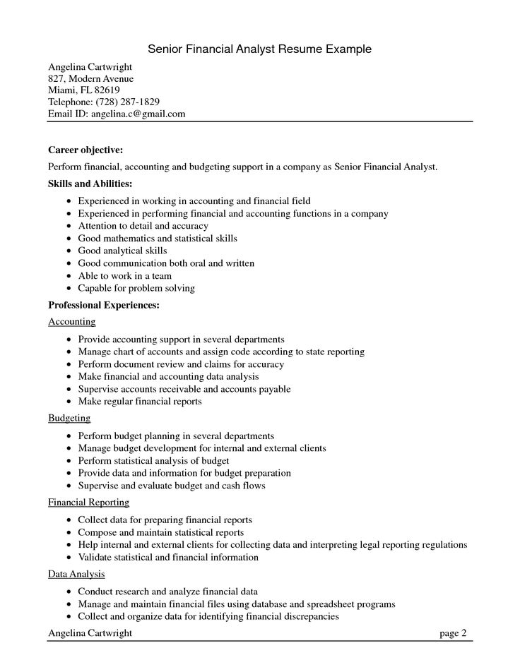 senior accountant resume summary financial achievements cost - financial data analysis