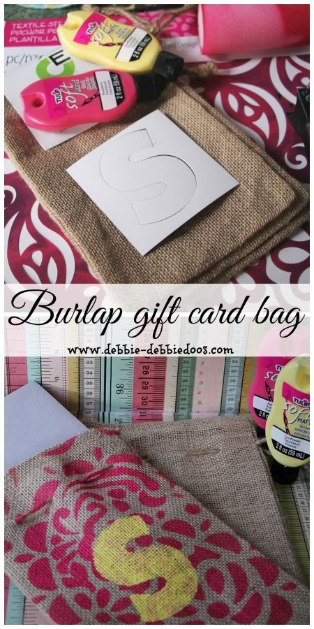 Make a card burlap gift bag. Perfect for a graduation card and keepsake. Learn a little about the Monogram history too.