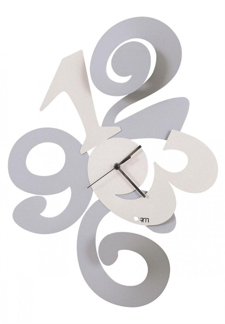 Zegar ścienny BALGOR Srebro i biel - Arti&Mestieri - DECO Salon #clock #wallclock #giftidea