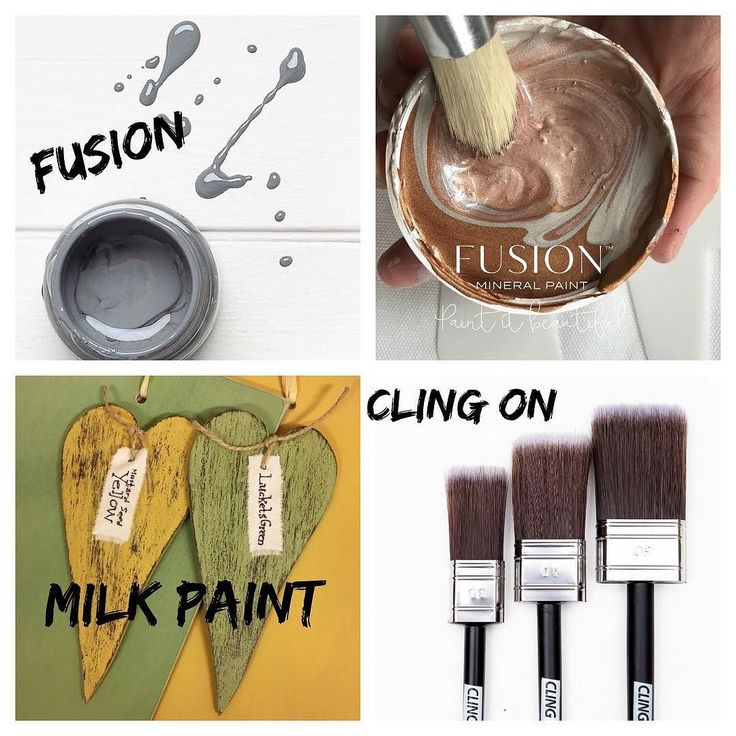 Förändra med Färg- Istället för slit&släng- Hos Skattkammaren hittar ni MMS Milk Paint-Fusion Mineral Paint-Cling On Penslar - Det bästa av 3 världar…