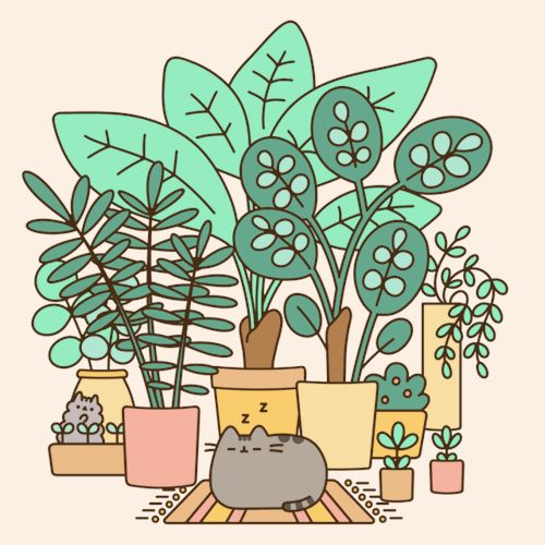 Happy Earth Day! Pusheen the cat.