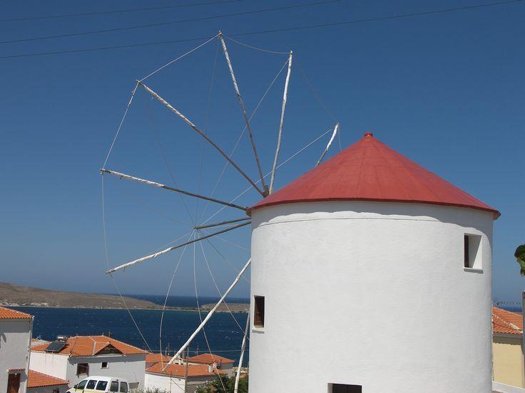 windmill - Sigri - Lesvos island - Greece
