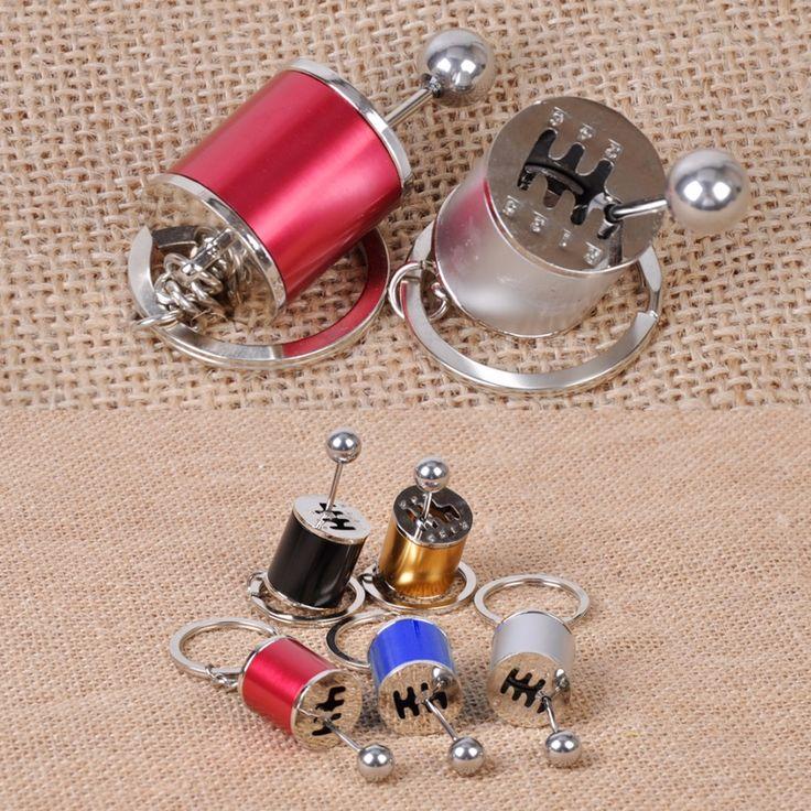 Nieuwe auto tuning onderdelen versnellingsbak versnellingspook versnellingspook keychainsleutelring cilinder gemodificeerde turbo wave sleutelhanger 5 kleuren voor keuze