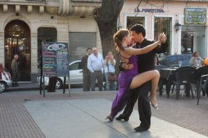 Tango in San Telmo, one of the locations in Slow Tango With a Prince. Love the dancers' focus on each other and their attention to detail.