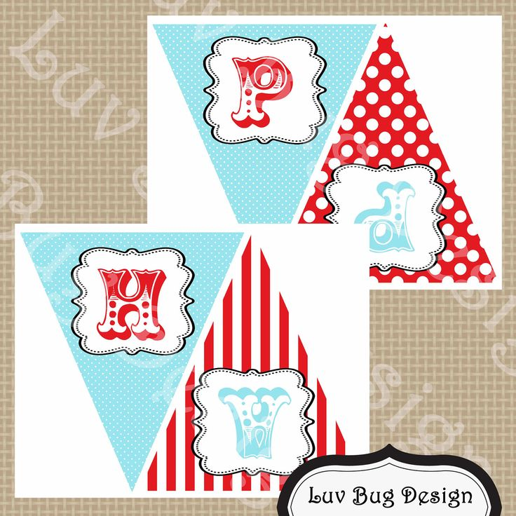 INSTANT DOWNLOAD Printable Circus or Carnival by luvbugdesign – Free Printable Circus Birthday Invitations