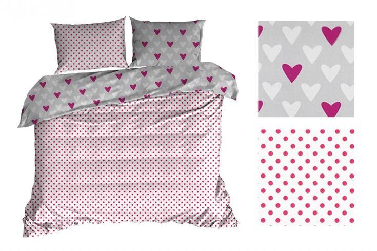 Romantické bavlnené posteľné obliečky obojstranné