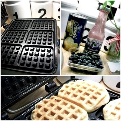 Kids love this! It was so easy too! Canned biscuits on a waffle iron, makes great waffles -SO good. We dipped them in cinnamon sugar first.