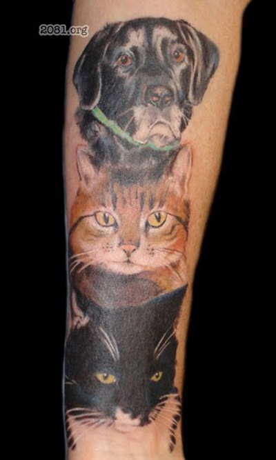 101 best people with pet tattoos images on pinterest pet tattoos tatoos and animal tattoos. Black Bedroom Furniture Sets. Home Design Ideas