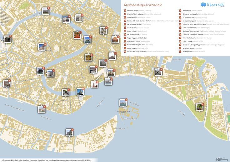 venice italy points of interest map - Google Search