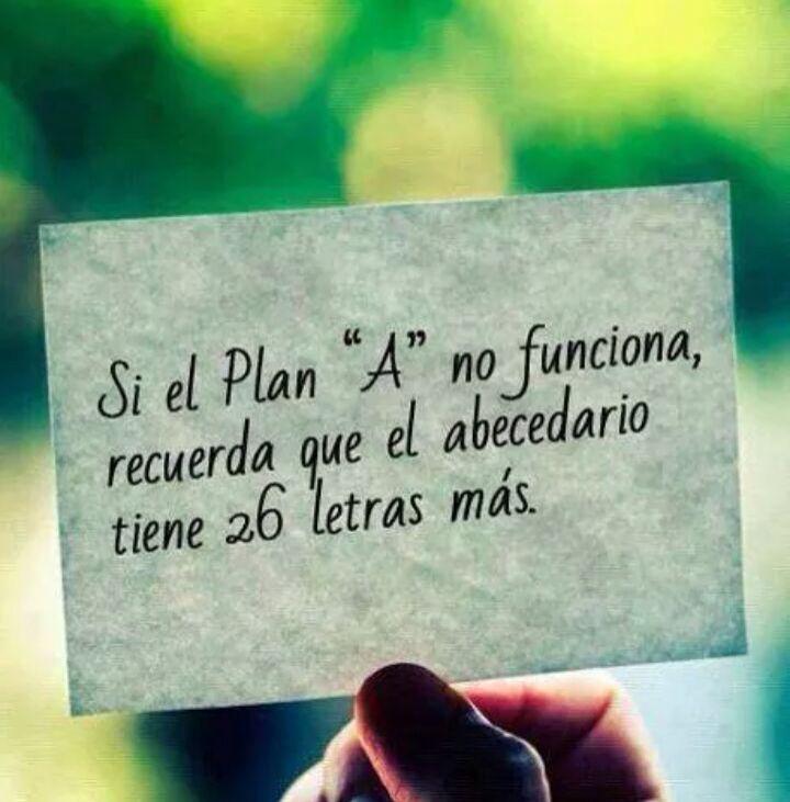 """Si el plan """"A"""" no funciona, recuerda que el abecedario tiene 26 letras más"""