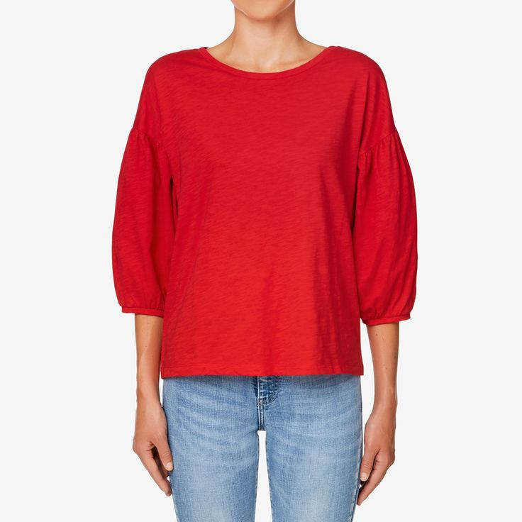 Shop now: Boxy Blouson Sleeve Top .#seedheritage #seed #woman