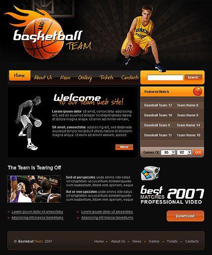 basketball team flash template  dengan gambar