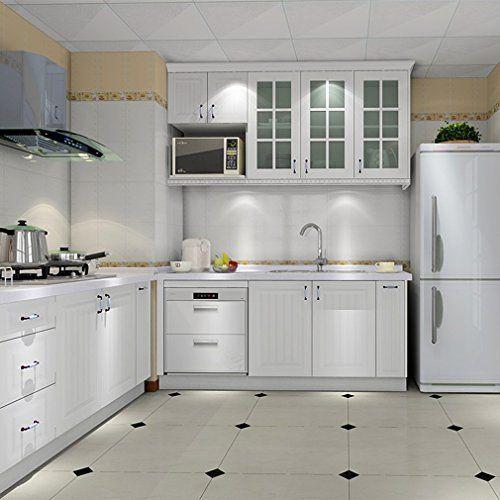 ARUHE® 0.61*5M Auto-Adhésif Stickers de Cabinet en Top QualitéPVC Rouleau de Papier pour Meubles / Cuisine / Salle de bains Blanc: Cet…