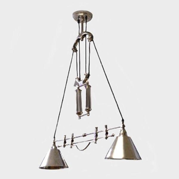 Artisanti Luigi Pulley System Double Ceiling Lamp by Artisanti