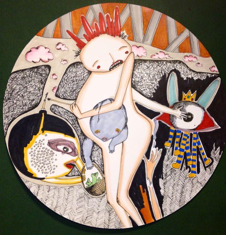 arsonist bitch - illustration - circle