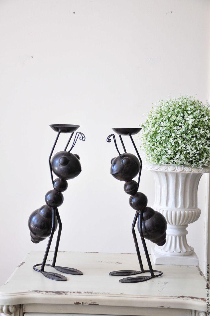 Candle holders Ants | Купить Подсвечник Муравей, металлический, садовая фигурка - коричневый, муравей, подсвечник металл, садовый декор